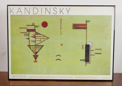 Deux affiches encadrées de KANDINSKY dont...
