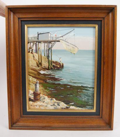 GAUTIER Richard. (Né en 1948 - )  Un pêcheur...