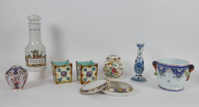 Lot de céramique comprenant:  1 Rafraîchissoir...