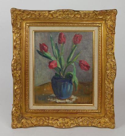 Charles KVAPIL (1884-1957)  Vase au bouquet...