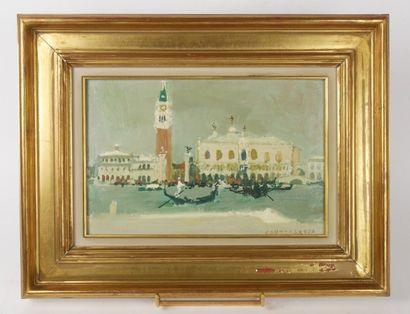 Lucien FONTANAROSA (1912-1972)  Vue de Venise...