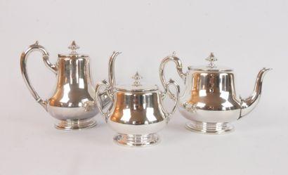 ALFENIDE:  Service à thé et à café en métal...