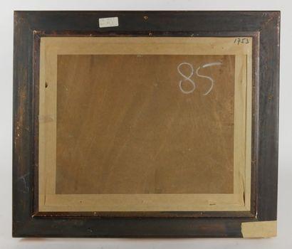 Narcisse GUILBERT (1878-1942)  Vue de la Seine à la Bouille  Huile sur panneau,...