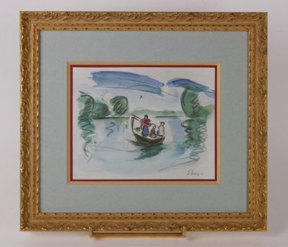Henri LEBASQUE (1865-1947)  Les pêcheurs...