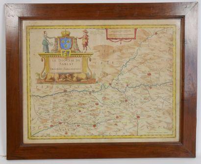 Carte ancienne représentant le diocèse de...