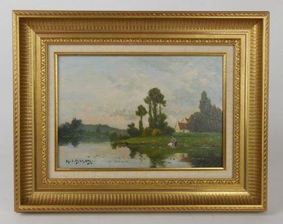 Jacques Hervé DELPY (1877-1957)  Lavandière...