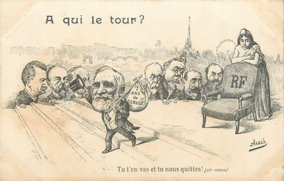16 CARTES POSTALES POLITIQUE : Illustrations...
