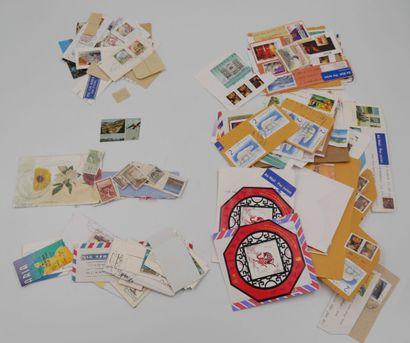 */**/°. 1 Carton de timbres sur fragments...