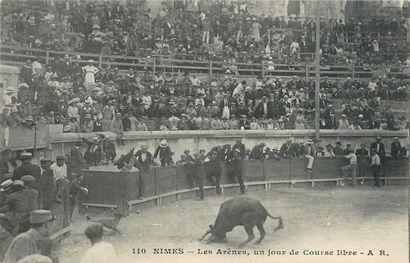 26 CARTES POSTALES TAUROMACHIE : Arènes de Béziers-16cp, Lunel-1cp, Nîmes-4cp &...