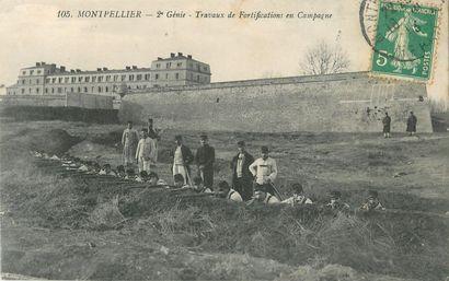 """113 CARTES POSTALES MILITARIA : Divers. Dont"""" Angers-6e Régiment du Génie-Construction..."""