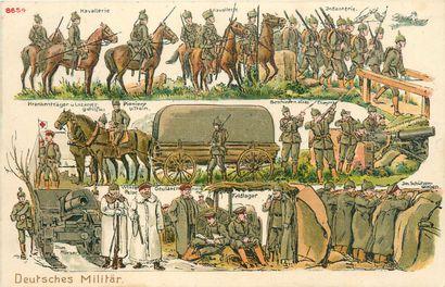 10 CARTES POSTALES MILITARIA : Cartes illustrées...