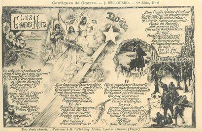 19 CARTES POSTALES MILITARIA : Cantiques...