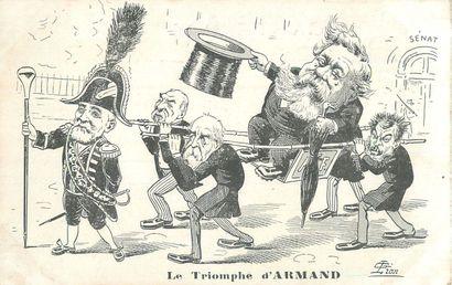 5 CARTES POSTALES POLITIQUE : Illustrations...
