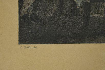 """Louis Léopold BOILLY (1761-1845) d'après  """"Le jeu de l'écarté"""" & """"Le jeu de billard""""..."""