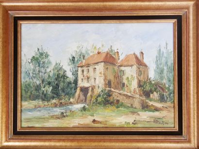 Etienne BELLAN (1922-2000)  Moulin sur la...