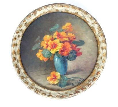 Gaston CORBIER (1869-1945)  Bouquet de fleurs...