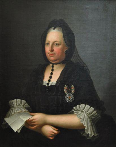 Attribué à Anton Von MARON (Vienne 1733 - Rome 1808)  Portrait de l'impératrice...