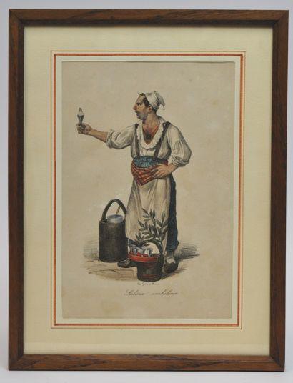 Gaetano DURA (1805-1878)  Sorbettaro Ambulante...