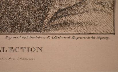 Francesco BARTOLOZZI (1727-1815) d'après  M Souch  Gravure en couleurs sur papier...