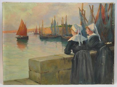 Ecole française du XXème siècle  Les bretonnes...