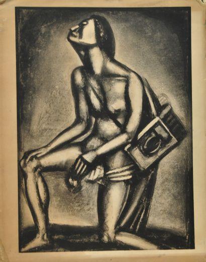 ROUAULT Georges (1871-1958) d'après  Sunt lacrymae rerum  Planche issue du Miserere,...