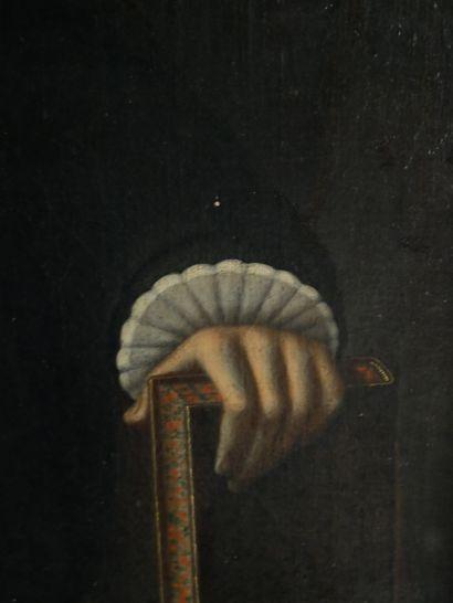 École Française ou Anglaise du XVIIe siècle  Portrait d'un religieux à mi corps...