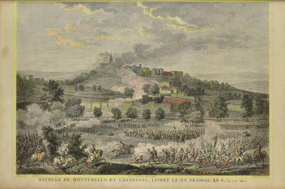 Carle VERNET (1758-1836) d'après. Ecole française du XIXème  Bataille de Montebello...