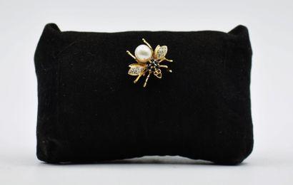 Broche pendentif abeille en or 750 millièmes...