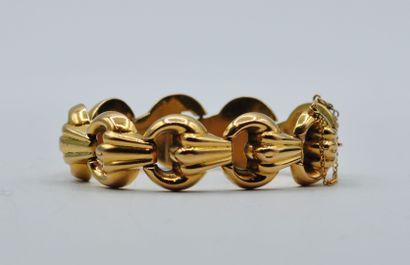 Bracelet en or 750 millièmes à 9 maillons...