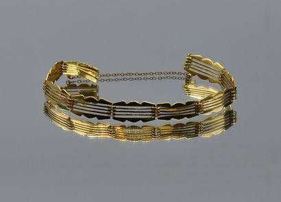 Bracelet gourmette en or 750 millièmes à...
