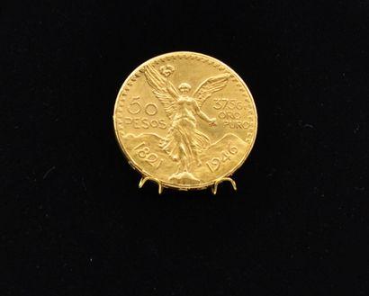 MEXIQUE  Pièce en or de 50 Pesos 1821-1946...