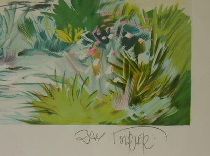 Ray POIRIER (Né en 1938)  La Drôme provençale  Lithographie sur papier numérotée...