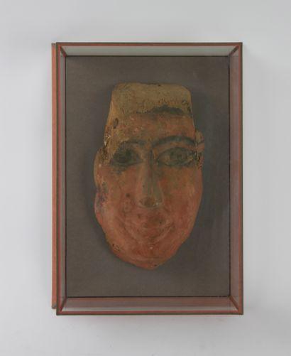 Masque funéraire antique d'Egypte (haut de...