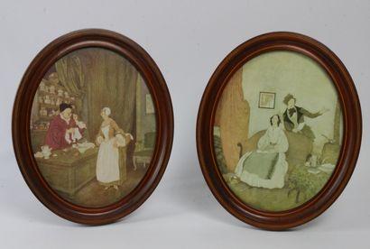 Paire de reproductions représentant «La...