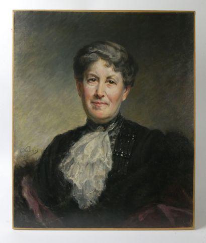 Ernest VABOIS (1833-1925)  Portrait d'une...