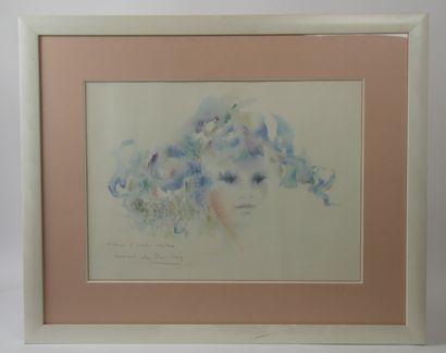 Shan MERRY (Née en 1935)  Jeune fille aux...