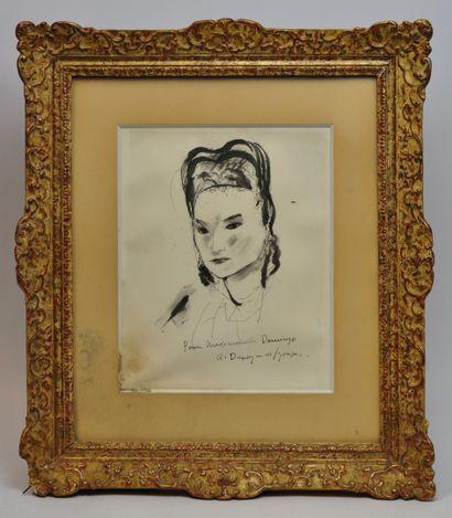 André DUNOYER DE SEGONZAC (1884-1974)  Portrait...