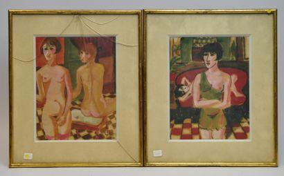 Ecole du XXème siècle  Les prostituées  Deux...