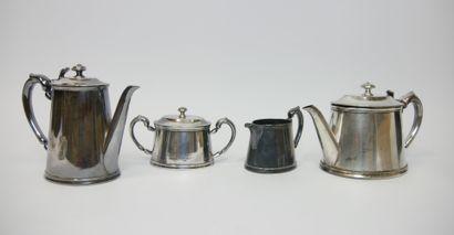 CHRISTOFLE  Service thé et café en métal...