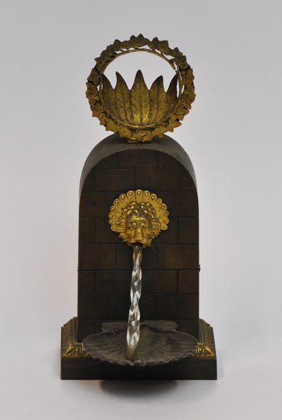 Sculpture en bronze doré et à patine bronze...