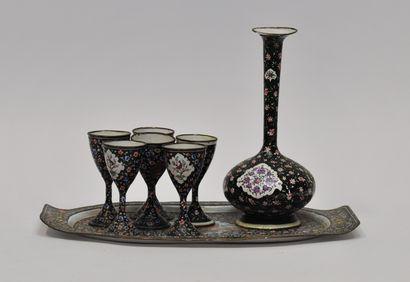 IRAN XIXème siècle  Service à liqueur en...