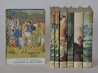 Collection littéraire LAGARDE ET MICHARD comprenant 6 volumes:  Moyen Age  XVI...