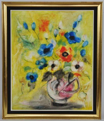 Ecole du XXème siècle  Bouquet de fleurs...