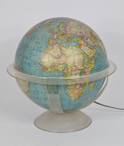 Globe terrestre lumineux, cerclage en plastique....