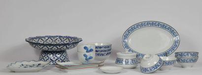 PORCELAINE ROYALE DE THAILANDE  Lot de porcelaine...