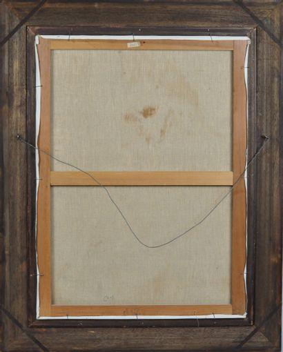 André PLANSON (1898-1981)  Nu au collier de perles  Huile sur toile signée en bas...