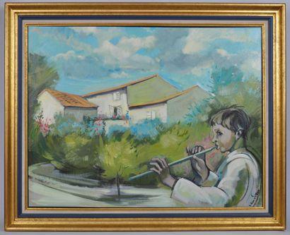 Eric VAN SOENS (Né en 1939)  Jeune garçon...