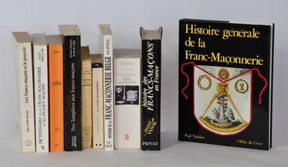Lot de livres autour de la franc maçonnerie....