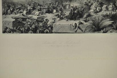 Léon COGNIET (1794-1880) & Karl GIRARDET (1813-1871) d'après  La bataille d'Héliopolis...