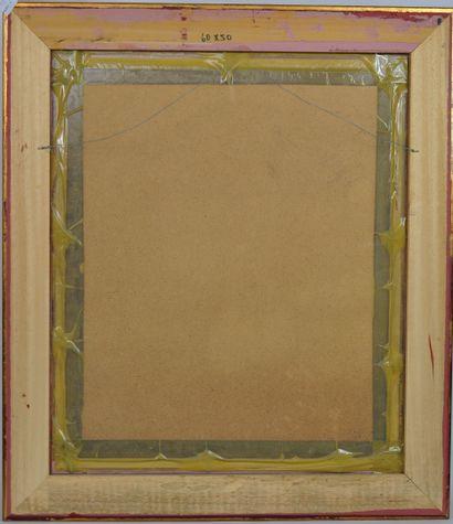 Vincenti USCHI  Portrait d'enfant  Sanguine sur papier dédicacée à Michèle et Jacques,...